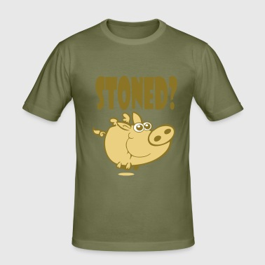 Stoned Pig! - Men's Slim Fit T-Shirt