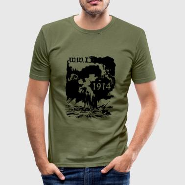ww1914_vec_1 de - Männer Slim Fit T-Shirt