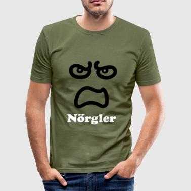 Fies Smiley Angry smiley - smile Face - Männer Slim Fit T-Shirt