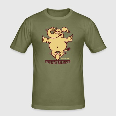 Balanced Elephant - Men's Slim Fit T-Shirt