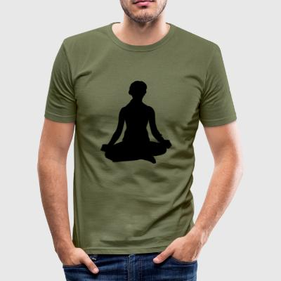 Yoga Meditieren Frau - Männer Slim Fit T-Shirt