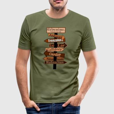 guidepost - Slim Fit T-skjorte for menn