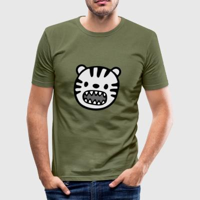 Förtjusande djur illustration - Slim Fit T-shirt herr