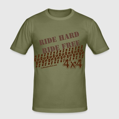 Ride Hard Ride Free - Männer Slim Fit T-Shirt