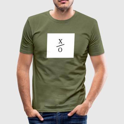 X / 0 Logo Quadrat - Männer Slim Fit T-Shirt