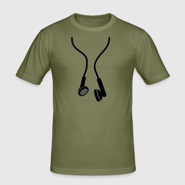 huge earphones - Männer Slim Fit T-Shirt
