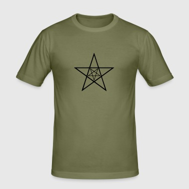 5, pentagram, five star pentagram, star, alchemy, gothic, goth, witch, witch magic, Mystic, wicca, occult, occult, Devil, Pan, Pagan, - Men's Slim Fit T-Shirt