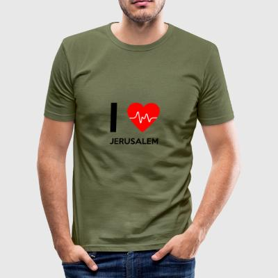 I Love Jerusalem - jeg elsker Jerusalem - Herre Slim Fit T-Shirt