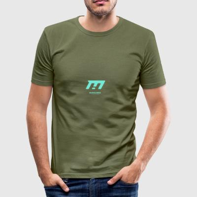 cyan - Männer Slim Fit T-Shirt