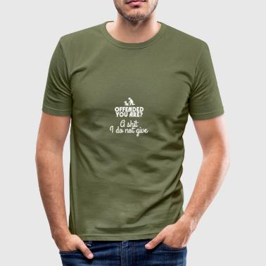 Offended you are? - Men's Slim Fit T-Shirt