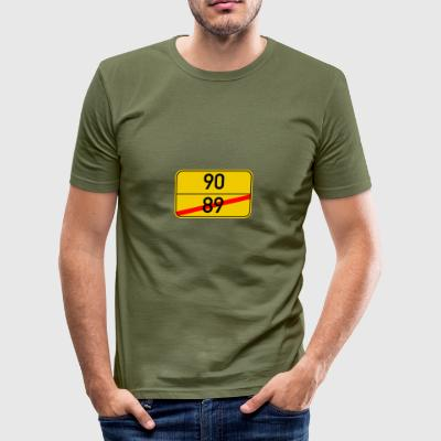 Ortsschild 89-90 - Men's Slim Fit T-Shirt