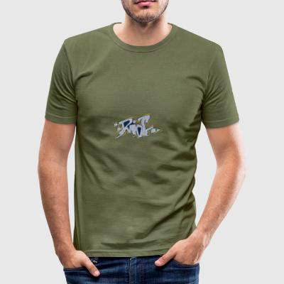 rel graffiti geel grijs - slim fit T-shirt