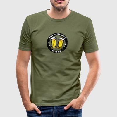 International Beer Day - slim fit T-shirt
