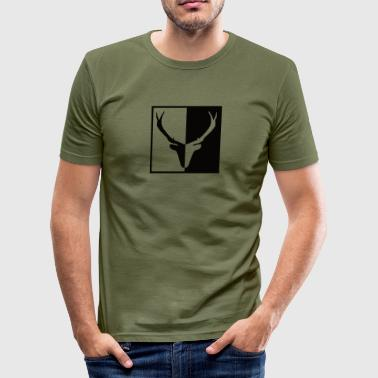 ks Red Deer zwart-wit - slim fit T-shirt
