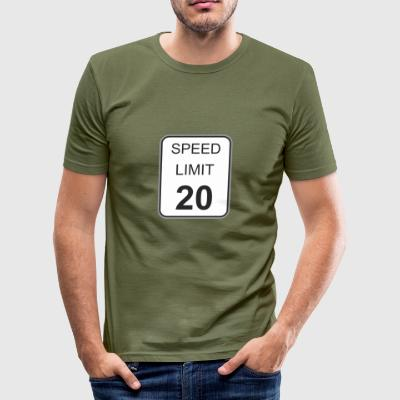 Verkeersbord maximum snelheid 20 - slim fit T-shirt