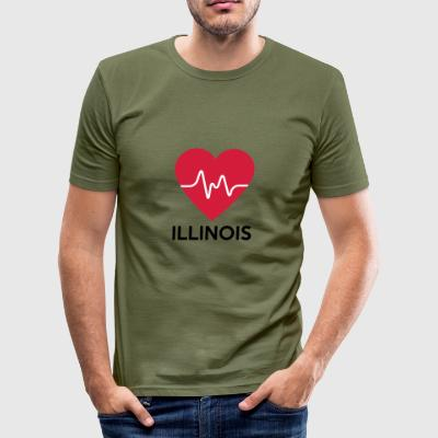 hjärta Illinois - Slim Fit T-shirt herr