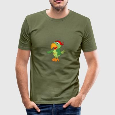 Parrot Pirate Corsair - Men's Slim Fit T-Shirt