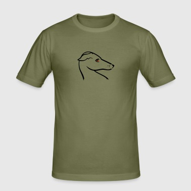 Windhund-Kopf / greyhound head (2c) - Men's Slim Fit T-Shirt