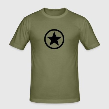 Star circle Anarchy Master Black Rebel Revolution - Men's Slim Fit T-Shirt