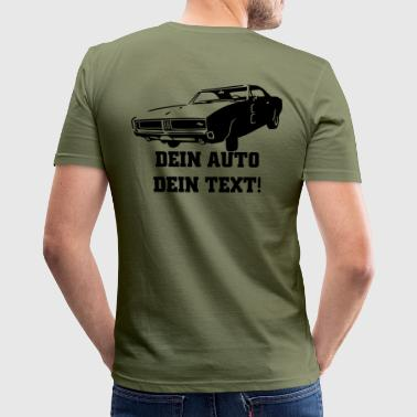 american retro car 1c - Männer Slim Fit T-Shirt
