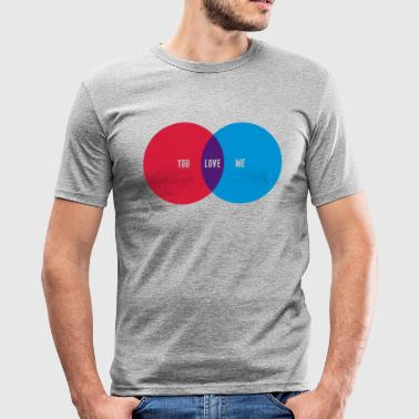 YOU + ME = LOVE - Männer Slim Fit T-Shirt