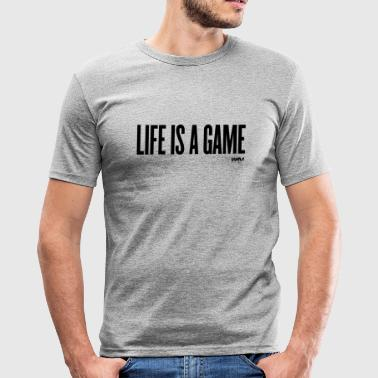 life is a game by wam - Tee shirt près du corps Homme