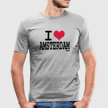 i love amsterdam by wam - slim fit T-shirt