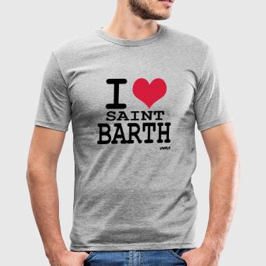 i love saint barth by wam - Tee shirt près du corps Homme