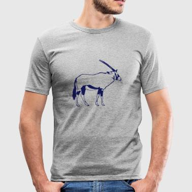 Oryx - Antilope - Männer Slim Fit T-Shirt