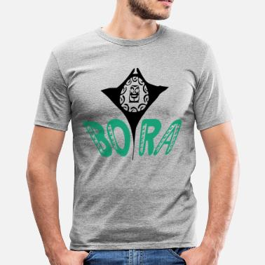 Bora Bora 3d tiki Bora Bora - Men's Slim Fit T-Shirt
