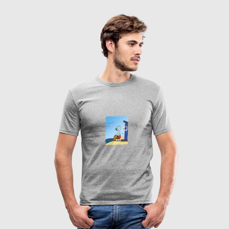 badvakt - Slim Fit T-shirt herr