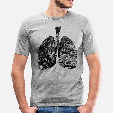Lungs Lungs - Men's Slim Fit T-Shirt