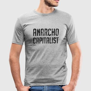 Anarcho kapitalistischer liberaler Anarchist - Männer Slim Fit T-Shirt