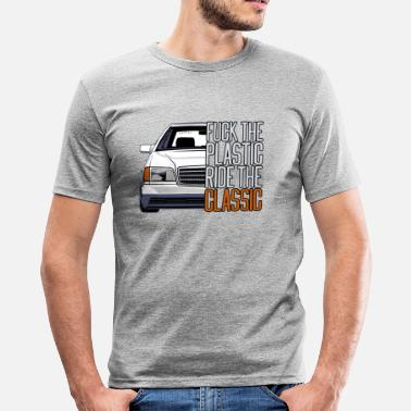 Fucking Deep W140 Fuck the Plastic - Ride the Classic - Men's Slim Fit T-Shirt