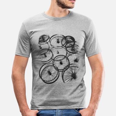 fed50b7b457668 Opona rowerowa szprychy rowerzysta chłodny design w stylu gr - Obcisła koszulka  męska