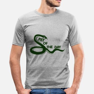 Green Snake Snake - Men's Slim Fit T-Shirt