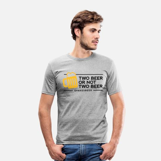 Cool T-Shirts - Two beer or not two beer. Shakes Beer! - Men's Slim Fit T-Shirt heather grey
