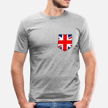 UK Brusttasche - Männer Slim Fit T-Shirt