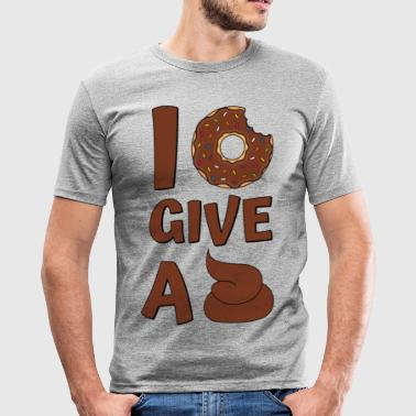 Donut Spruch I Donut Give A Shit Braun - Männer Slim Fit T-Shirt