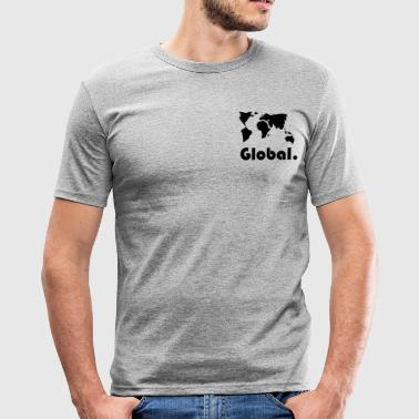 Tema globale tema - Slim Fit T-skjorte for menn