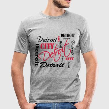 Detroit - Slim Fit T-shirt herr