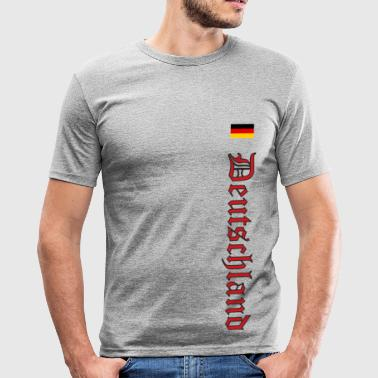 Old German Germany with Old German Script - Men's Slim Fit T-Shirt