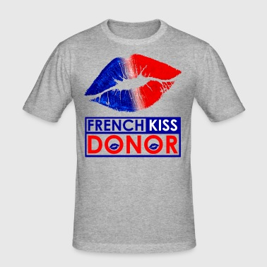 French Kiss Donor Tee shirts - T-shirt près du corps Homme