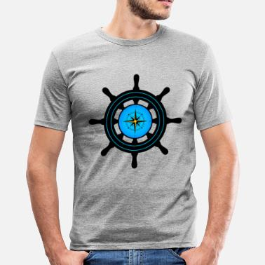 Ships Wheel ships wheel - Men's Slim Fit T-Shirt