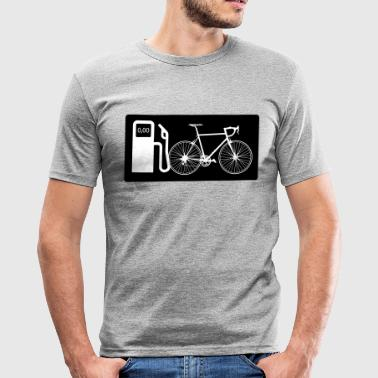 Save Gasoline Biking without gasoline Funny bicycle driver - Men's Slim Fit T-Shirt
