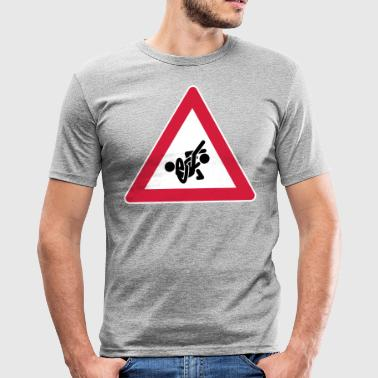 Warndreieck STREET-SIGN-SERIES: GRAPPLING-01 - Männer Slim Fit T-Shirt
