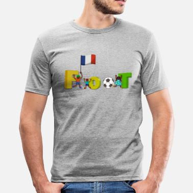 Supporteur National foot supporters en famille - T-shirt près du corps Homme