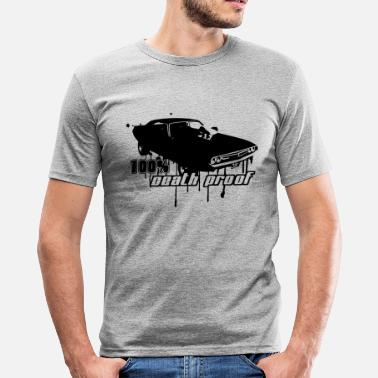 Dodge Challenger 100% Death Proof - Männer Slim Fit T-Shirt