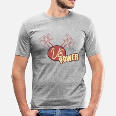 V8 Power V8 power retro - Men's Slim Fit T-Shirt
