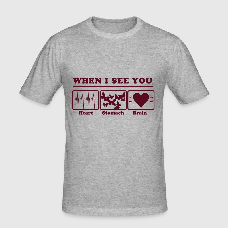When I see you - Men's Slim Fit T-Shirt